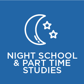 night school and part time studies at Blyth Academy Burlington